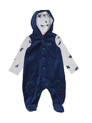 mothercare Boys Grey & Blue Printed Clothing Set