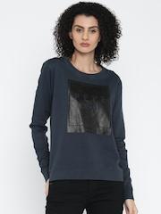 Pepe Jeans Navy Printed Sweatshirt