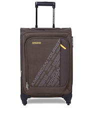 AMERICAN TOURISTER	Unisex Brown Small Trolley Suitcase