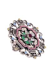 Studio Voylla Silver-Toned Adjustable Ring