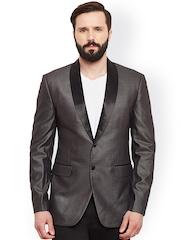 Alvin Kelly Grey Single-Breasted Tuxedo Blazer