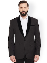 Alvin Kelly Grey Single-Breasted Tuxedo Blazer
