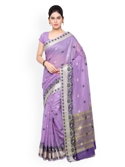 Varkala Silk Sarees Lavender Chanderi Silk Traditional Saree