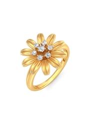 BlueStone 2.555 g 18-Karat Gold Glorious Floral Ring with Diamonds