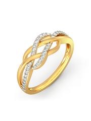 BlueStone 1.638 g 18-Karat Gold Anya Ring with Diamonds