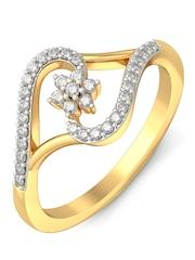 BlueStone 1.722 g 18 KT Gold Jasarahette Ring with Diamonds