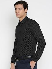 Urban Nomad Men Black Slim Fit Printed Casual Shirt
