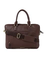 Mast & Harbour Women Brown Textured Laptop Bag