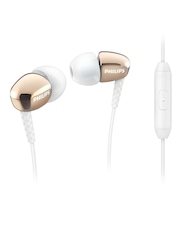 Philips Bronze-Toned & White Rich Bass In-Ear Headphones