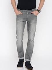 John Players Men Grey Slim Fit Low Rise Clean Look Jeans