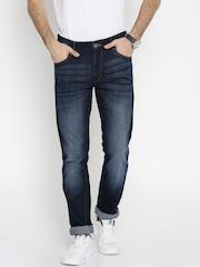 John Players Men Blue Skinny Fit Low-Rise Jeans