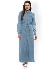 StyleStone Women Blue Solid Maxi Dress
