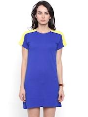 Chumbak Women Blue Solid Sheath Dress