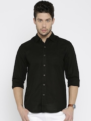 Lee Men Black Slim Fit Casual Shirt