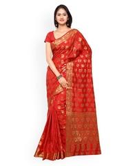Inddus Red Banarasi Art Silk Traditional Saree