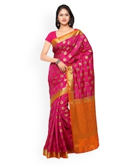 Inddus Pink Banarasi Art Silk Traditional Saree