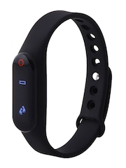 Fitmate Unisex Black Fitness Tracker With Heart Rate Monitor