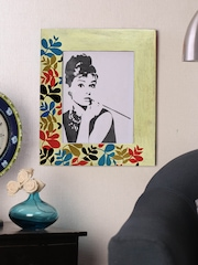 RANGRAGE Hand-Painted Floral Ikat Photo Frame