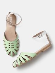 DressBerry Women Green Coloublocked Flats
