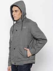 Fort Collins Grey Padded Jacket with Detachable Hood