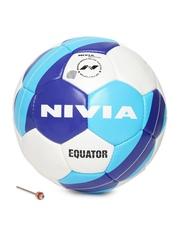 NIVIA Unisex Blue & White Equator Printed Football