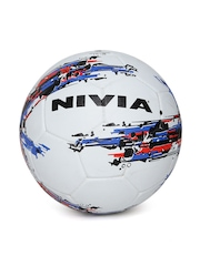 NIVIA Unisex Off-White Storm Printed Football