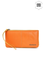 Fastrack Women Orange & Mustard Yellow Genuine Leather Wallet