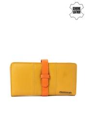 Fastrack Women Mustard Yellow & Orange Genuine Leather Wallet