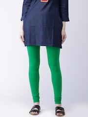 Moda Rapido Green Churidar Leggings