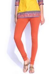 Biba Orange Churidar Leggings