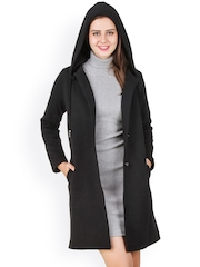 Texco Black Hooded Coat