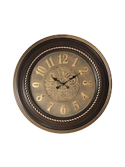 Athome by Nilkamal Gold-Toned Dial Antique Analogue Wall Clock