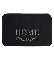 Saral Home Black Rectangular Anti-Slip Jute Doormat