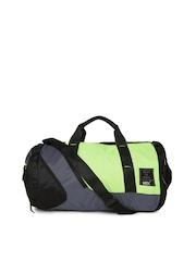 HRX by Hrithik Roshan Unisex Black & Fluorescent Green Colourblocked Duffel Bag