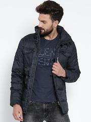 Wills Lifestyle Navy Padded Jacket