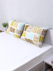"House This Set of 2 Multicoloured Printed 18"" x 27"" Rectangular Pillow Covers"