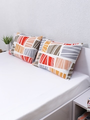"""House This Set of 2 Multicoloured Printed 18"""" x 27"""" Rectangular Pillow Covers"""