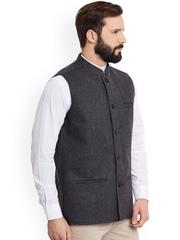 even Grey Woollen Nehru Jacket