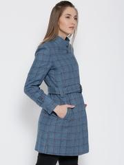 Monte Carlo Blue Checked Longline Coat