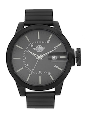 RDSTR by Roadster Men Charcoal Grey Analogue Watch RD6-G-BLACK-GRY