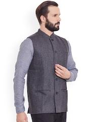 even Charcoal Grey Nehru Jacket