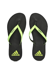 Adidas Women Fluorescent Green & Black Eezay Max Out Flip-Flops