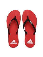 Adidas Women Red Eezay Max Out Flip-Flops