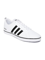 Adidas NEO Men White Solid Pace VS Sneakers
