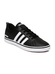 Adidas NEO Men Black Solid Pace VS Leather Sneakers