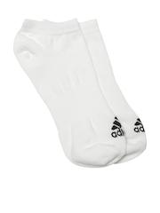 Adidas Unisex White PER NO-SH T 1PP Ankle-Length Socks