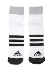 Adidas Unisex White CLI ID TC1P Ankle-Length Training Socks