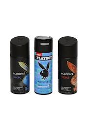Playboy Men Set of 3 Deodorants