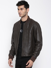 H.E. By Mango Brown Sheep Leather Jacket
