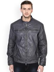 Turtle Black Biker Jacket